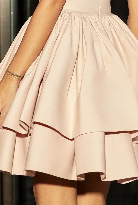 Simmi Nude Pink Dress With Original Cutting Online