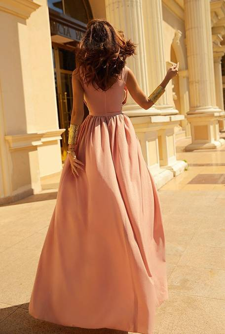 Luna Nude Dress With Glitter Dresses Online Store Lou