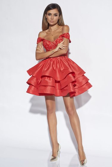 ERINE - RED LACE DRESS
