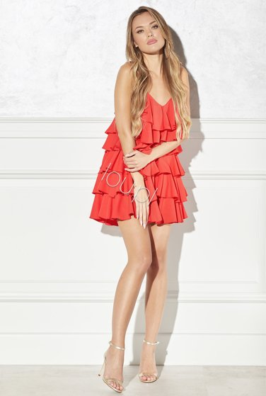 ESCADA - RED DRESS WITH FRILLS