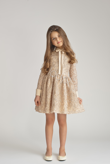 555063203008 Special offer Price reduction JASMINE KIDS - BEIGE LACE DRESS