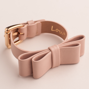 LEATHER NUDE BRACELET WITH A RIBBON