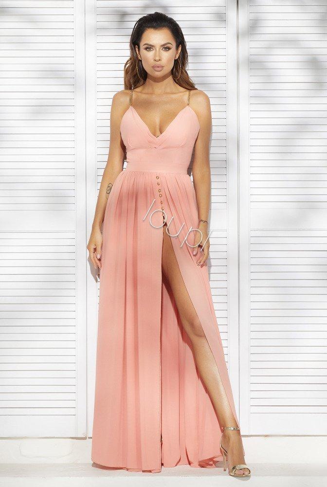 ALISSA - SALMON GOWN   HOT DRESSES DRESSES \\ RED CARPET DRESSES ...