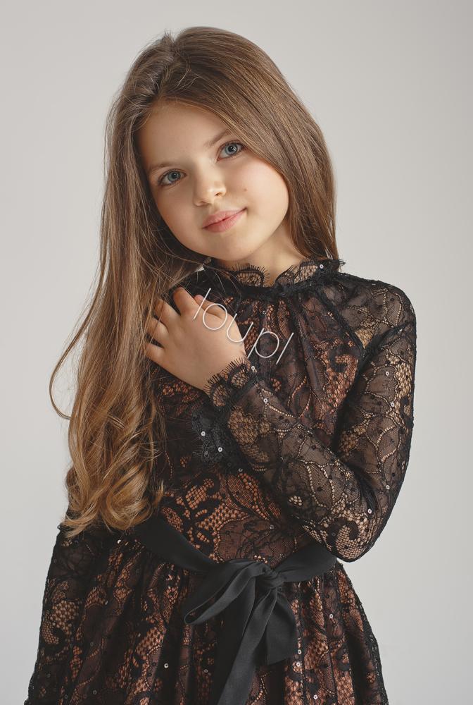 2fcd0cf5eb87 MARIELLE KIDS - BLACK LACE DRESS     Tytuł sklepu zmienisz w dziale ...