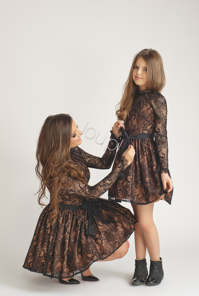 Marielle Kids Black Lace Dress Dresses Online Store Lou