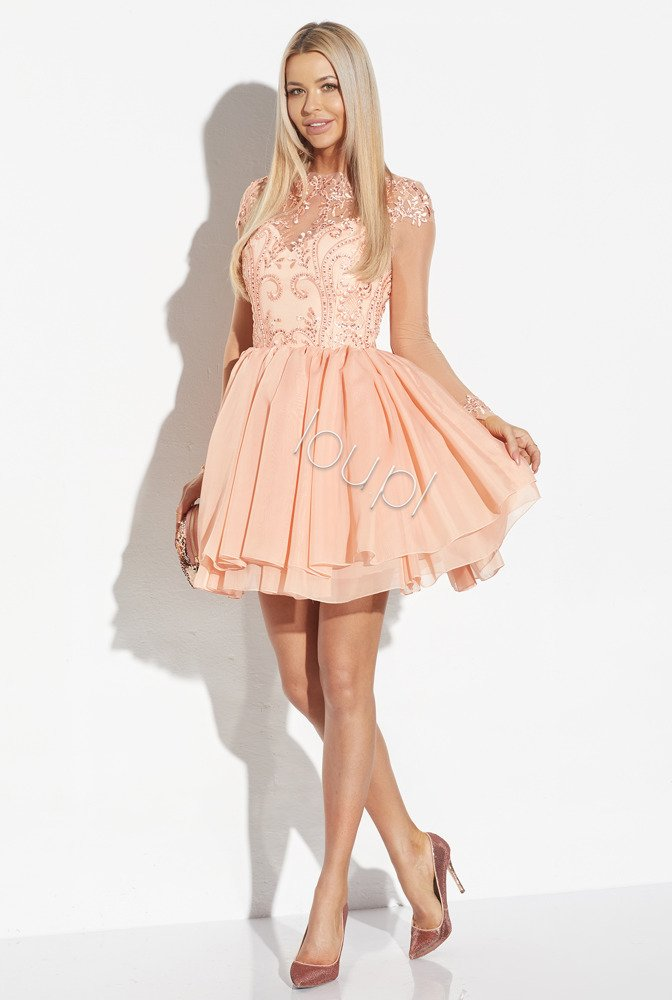 MIA - PEACH LACE DRESS | DRESSES \ COCKTAIL DRESSES \ ALL | Tytuł ...