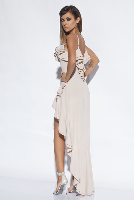 CASSIDY - NUDE COLOUR GOWN