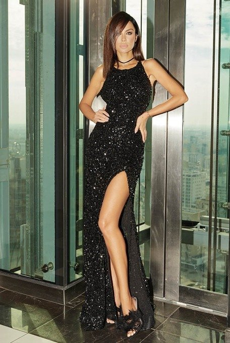 CHITARRA - BLACK SEQUIN DRESS