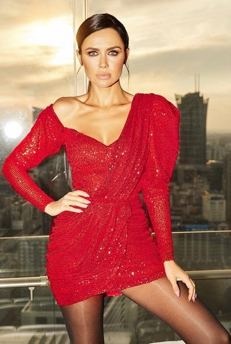 CORINNA - RED SEQUIN DRESS