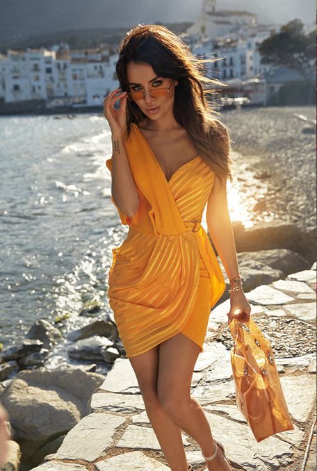 DESSIMA - YELLOW DRESS WITH CLAMB