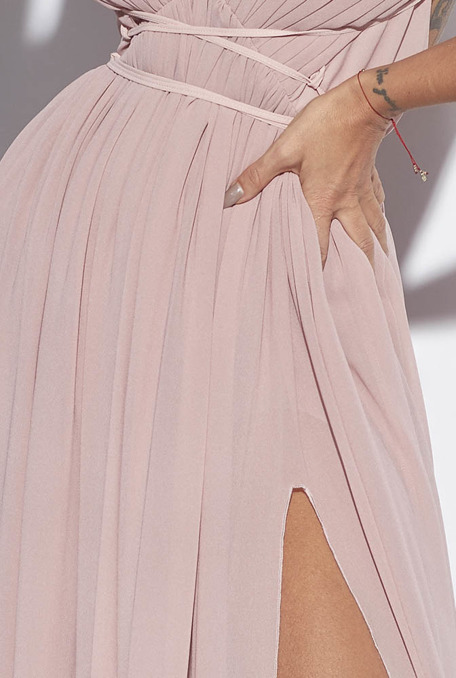 DIFFA - PINK GOWN WITH PLEATS