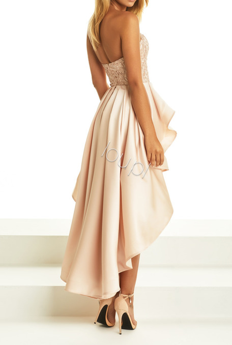 EMMA - DIRTYPINK GOWN WITH GUIPURE