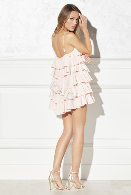 ESCADA - PINK DRESS WITH FRILLS