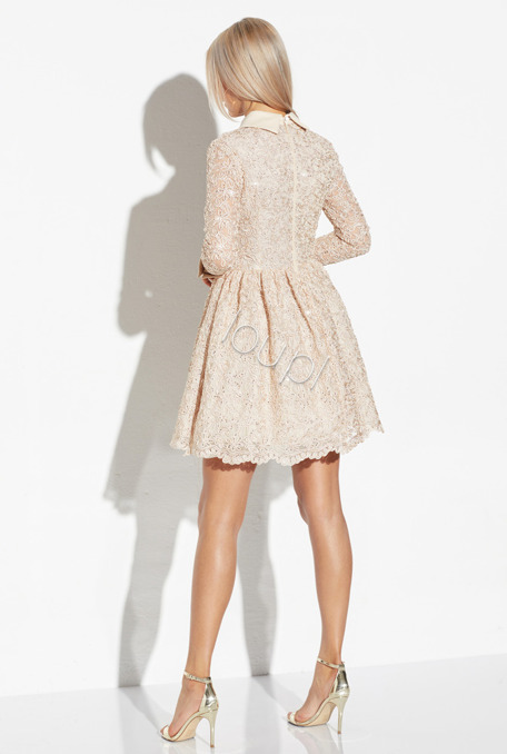 GIULIANA -  BEIGE LACE DRESS