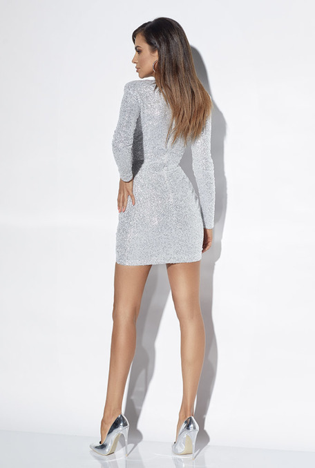 GLOW - SILVER DRESS WITH SEQUINS