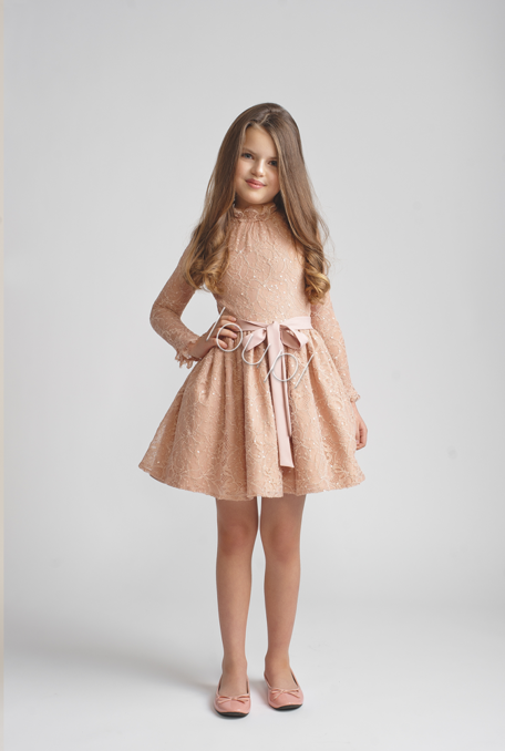 JASMINE KIDS -  PINK LACE DRESS