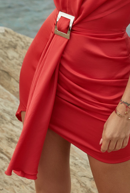 KERISS - RED DRESS WITH CLAMB