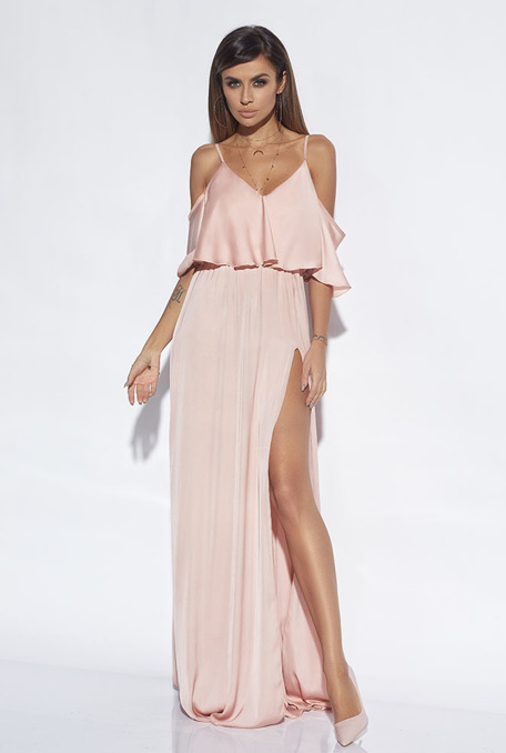 LINDA - PEACH GOWN
