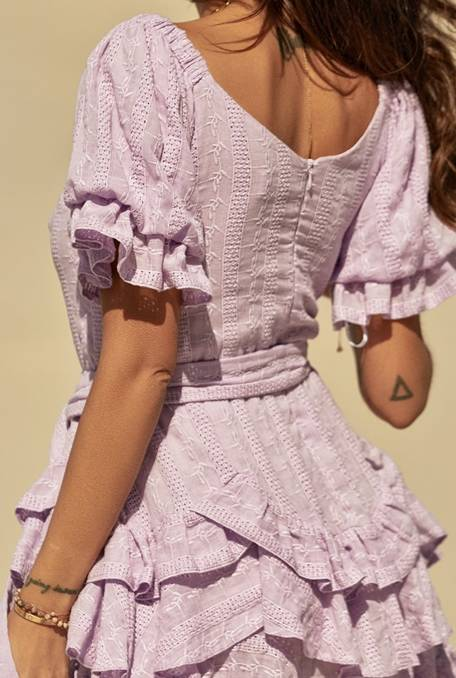Lilac - A dress made of natural fabric in a lilac shade