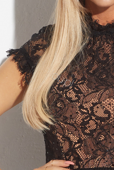 MARIELLE - BLACK LACE DRESS