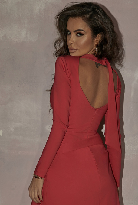 MELANIE - RED DRESS WITH VEST