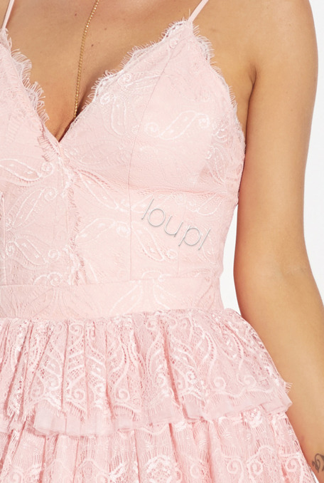 MILA - PINK LACE DRESS