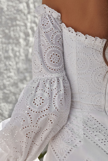 NEA - WHITE BOHO DRESS