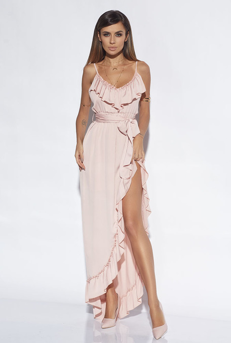 OCTAVIA - PINK GOWN WITH FRILLS