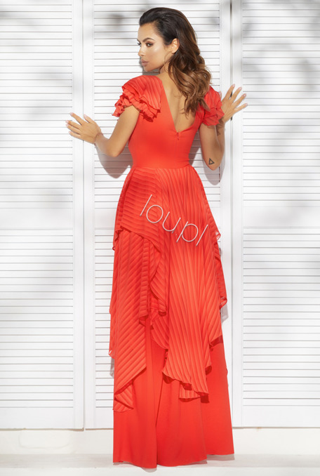 SAGUARA - RED GOWN WITH FRILLS