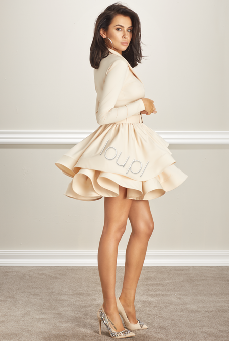 SAMIRA - FERN BEIGE DRESS