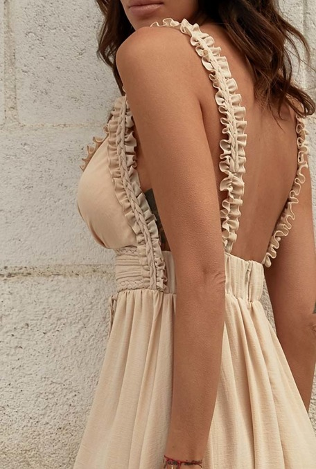 SAMSARA - BEIGE DRESS WITH SUGARS