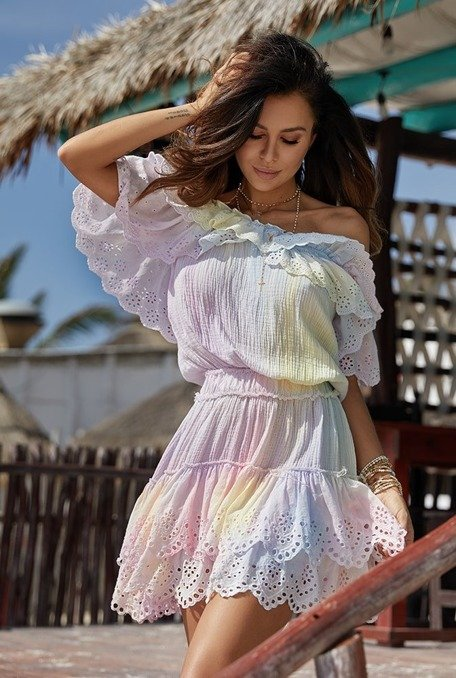 Sunset - A mini dress in boho style