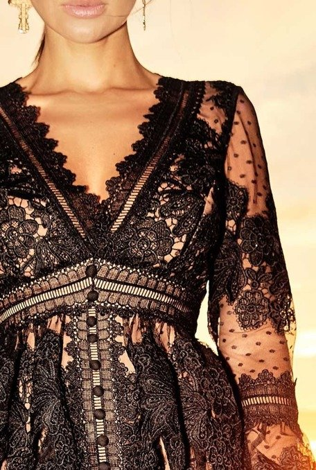 VERTINA - BLACK BOHO DRESS