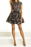 ALLURE - BLACK DRESS WITH LACE