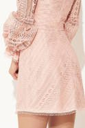 ANISHA - PINK GUIPURE DRESS