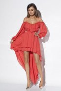 FIBI - RED GOWN WITH FRILLS