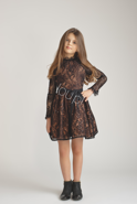 MARIELLE KIDS -  BLACK LACE DRESS