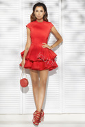 VIVIENNE - RED DRESS WITH ORIGINAL SEWING
