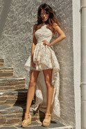 ZIA - BEIGE LACE DRESS